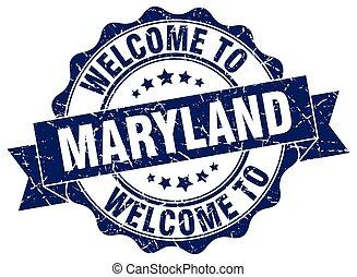 Maryland, rotondo, nastro, sigillo