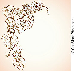 vintage background with grapes