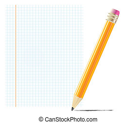pencil with blank paper