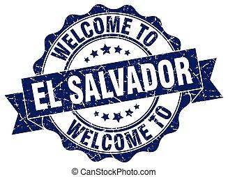 El Salvador round ribbon seal
