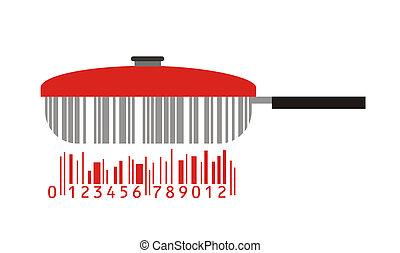 pan as stylized barcode