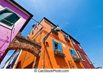 Italy, Venice. Burano Island - The beautiful city of Venice...