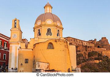 Church of Santa Maria delle Grazie on Procida Island....