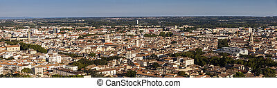 Aerial panorama of Nimes