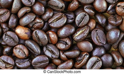 Footage close up coffee beans . - Footage close up coffee...