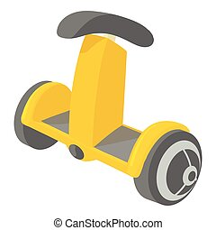 Ecology segway icon, cartoon style - Ecology segway icon....