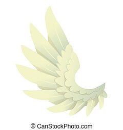 Angel wing icon, cartoon style