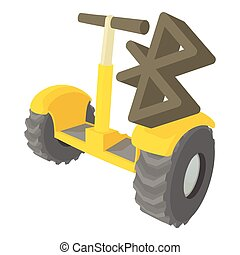 Segway coonection icon, cartoon style - Segway coonection...