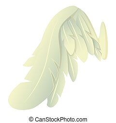 Angelic wing icon, cartoon style - Angelic wing icon....