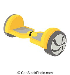 Small segway icon, cartoon style - Small segway icon....