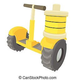Segway battery icon, cartoon style - Segway battery icon....