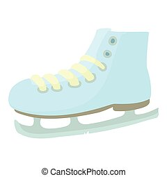 Ice skate icon, cartoon style - Ice skate icon. Cartoon...