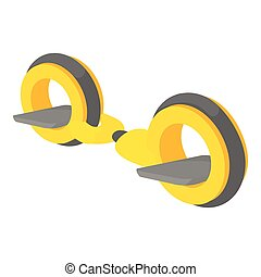 Little segway icon, cartoon style - Little segway icon....