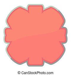 Shaped tag icon, cartoon style - Shaped tag icon. Cartoon...