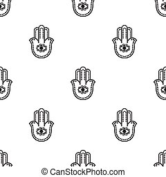 Hamsa icon in black style isolated on white background....
