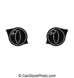 teia, olhos, móvel, Ilustração, gato, vetorial, ícone