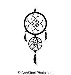 Dreamcatcher icon in black style isolated on white background. Sleep and rest symbol stock vector illustration.