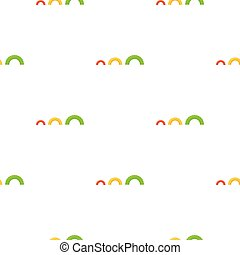Tire on playgarden icon in cartoon style isolated on white...
