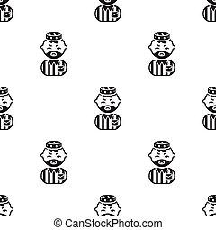 Prisoner black icon. Illustration for web and mobile design....