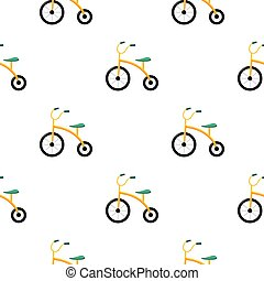 Tricycle icon in cartoon style isolated on white background....