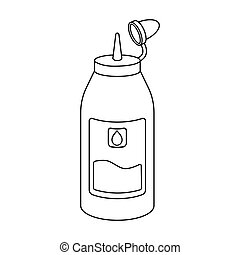 Ink in outline style isolated on white background....