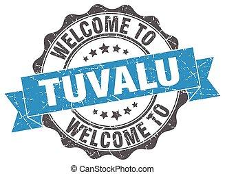 Tuvalu round ribbon seal