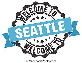 Seattle round ribbon seal
