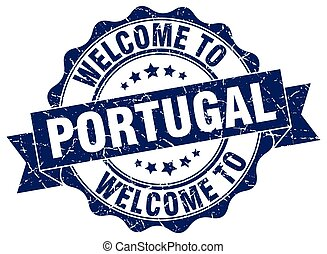 Portugal round ribbon seal