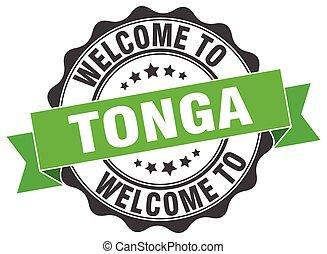 Tonga round ribbon seal