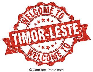 Timor-Leste round ribbon seal