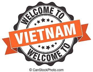 Vietnam round ribbon seal