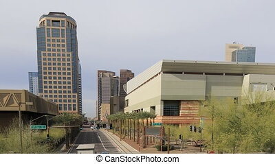 View of city center in Phoenix, Arizona - A View of city...