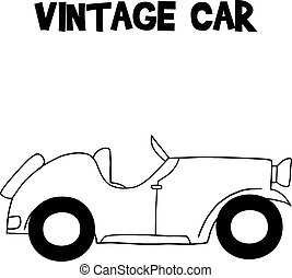 Hand draw of vintage car