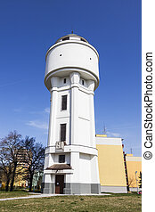 Historic water tower in Breclav