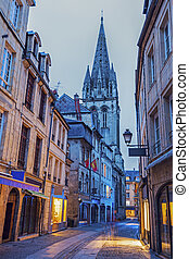 St Saviour's Church in Caen. Caen, Normandy, France.