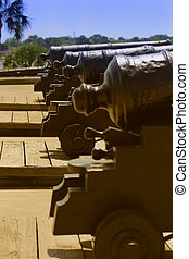 Canons at the ready - Canons at Castillo De San Marcos...