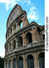 The Colosseum in Rome - Vertical picture of the Colosseum...