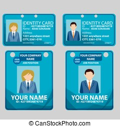 ID CARD STAFF BUSINESS.