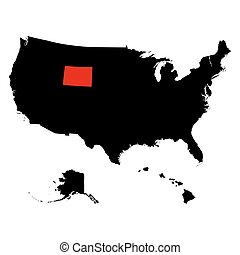 U.S. state on the . map Wyoming vector