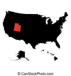 map of the U.S. state  Utah - map of the U.S. state of Utah
