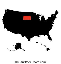map of the U.S. state South Dakota - map of the U.S. state...