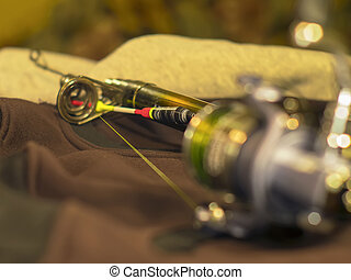 Bright float, fishing reel and rod