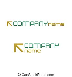 Abstract design icon with text and emblem. Vector illustration.