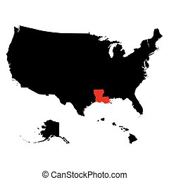 map of the U.S. state Louisiana - map of the U.S. state of...
