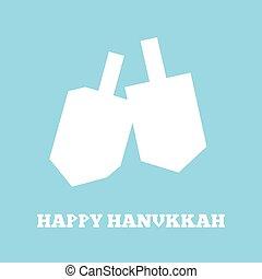 Hanukkah dreidels white