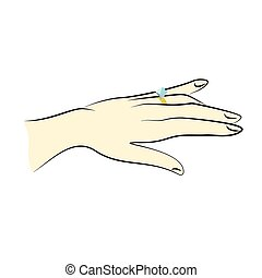 Vector image of hand