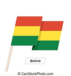 Bolivia Ribbon Waving Flag Isolated on White. Vector...