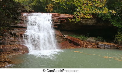 Kennedy Falls Autumn Loop - Kennedy Falls, a waterfall on...