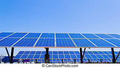Alternative Solar Energy. Solar power plant.