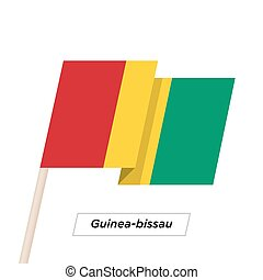 Guinea-bissau Ribbon Waving Flag Isolated on White. Vector...